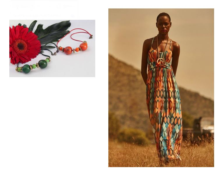 b5e01c1592a5d Latest Sale, Business Directory Fashion, Anthropologie Maxi dress, Olga  Margarita handmade beaded necklaces