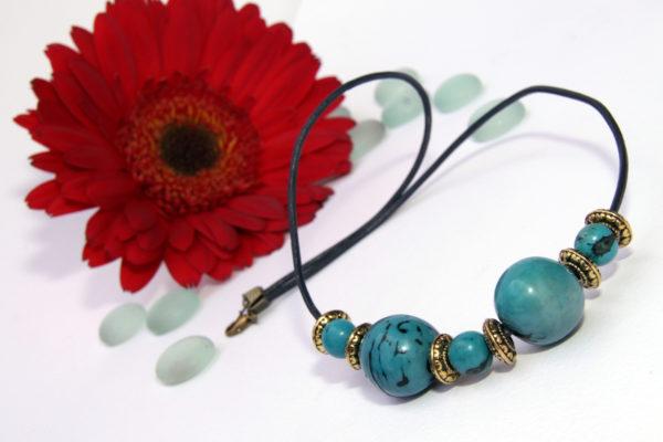 Olga Margarita, Blue, Handmade Beaded Necklaces